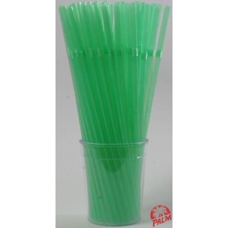 Hajlítható zöld szívószál
