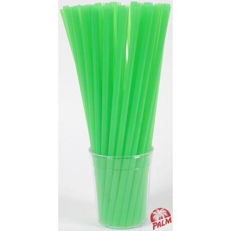 Vastag zöld szívószál
