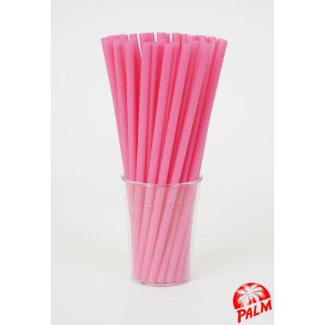Vastag rózsaszín szívószál