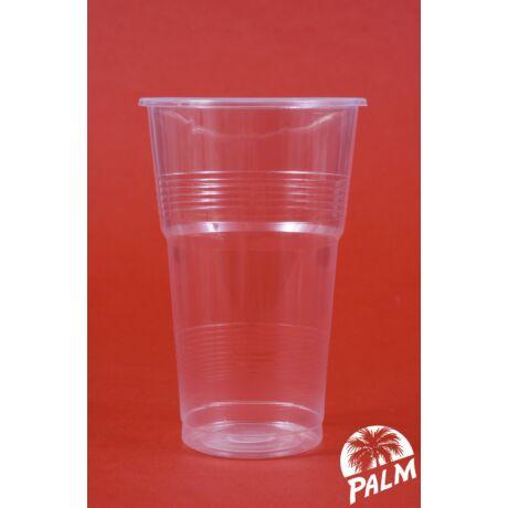 Műanyag pohár - 5 dl bordás falú