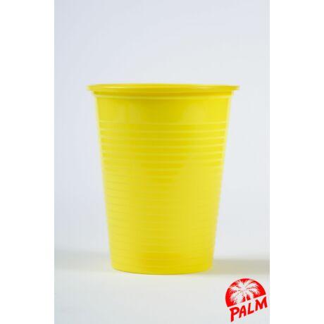 Műanyag sárga pohár - 1,6 dl