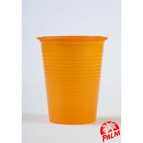 Műanyag narancs pohár - 1,6 dl