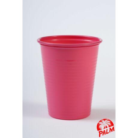 Műanyag rózsaszín pohár - 1,6 dl