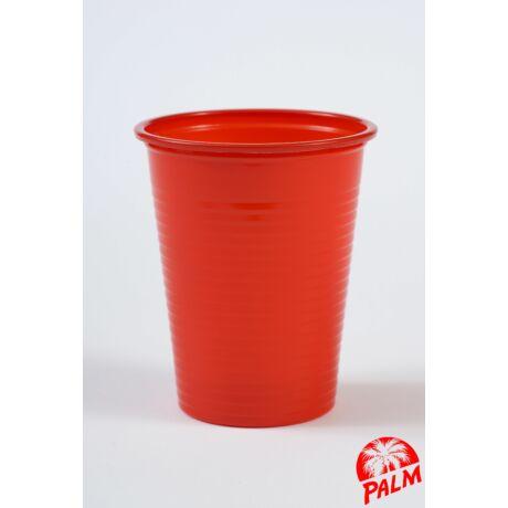 Műanyag piros pohár - 1,6 dl