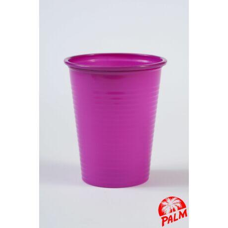 Műanyag lila pohár - 1,6 dl