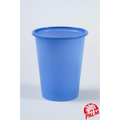 Műanyag kék pohár - 1,6 dl