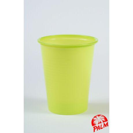 Műanyag világoszöld pohár - 1,6 dl