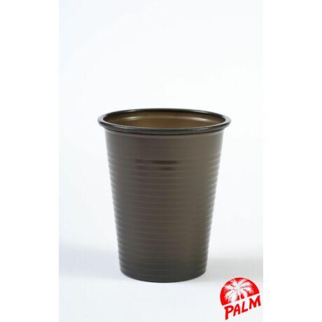 Műanyag fekete pohár - 1,6 dl