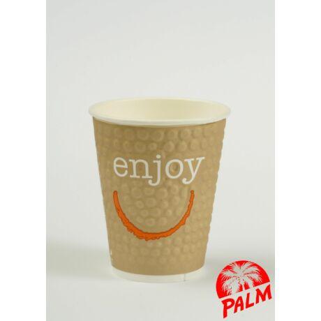 Hőtartó papírpohár (Enjoy) - Ø 80 mm - 2 dl