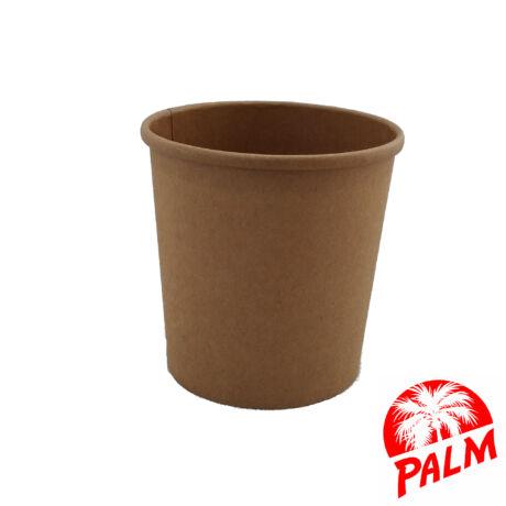 Papír leveses tál (kraft) - Ø 90 mm - 375 ml