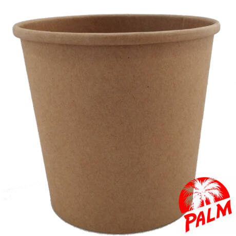 Papír leveses tál (kraft) - Ø 115 mm - 750 ml