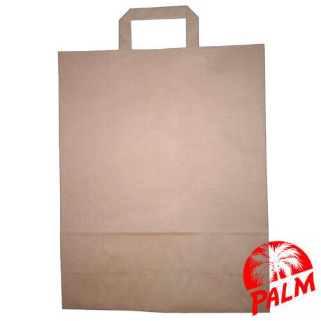 Szalagfüles papírtáska - barna - 12 x 32 x 41 cm