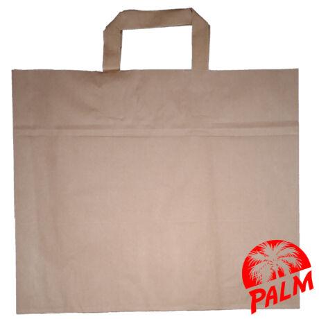 Szalagfüles papírtáska - barna - 21 x 32 x 27 cm